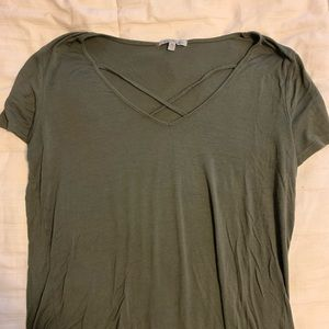 Charlotte Russe Cross Front Top